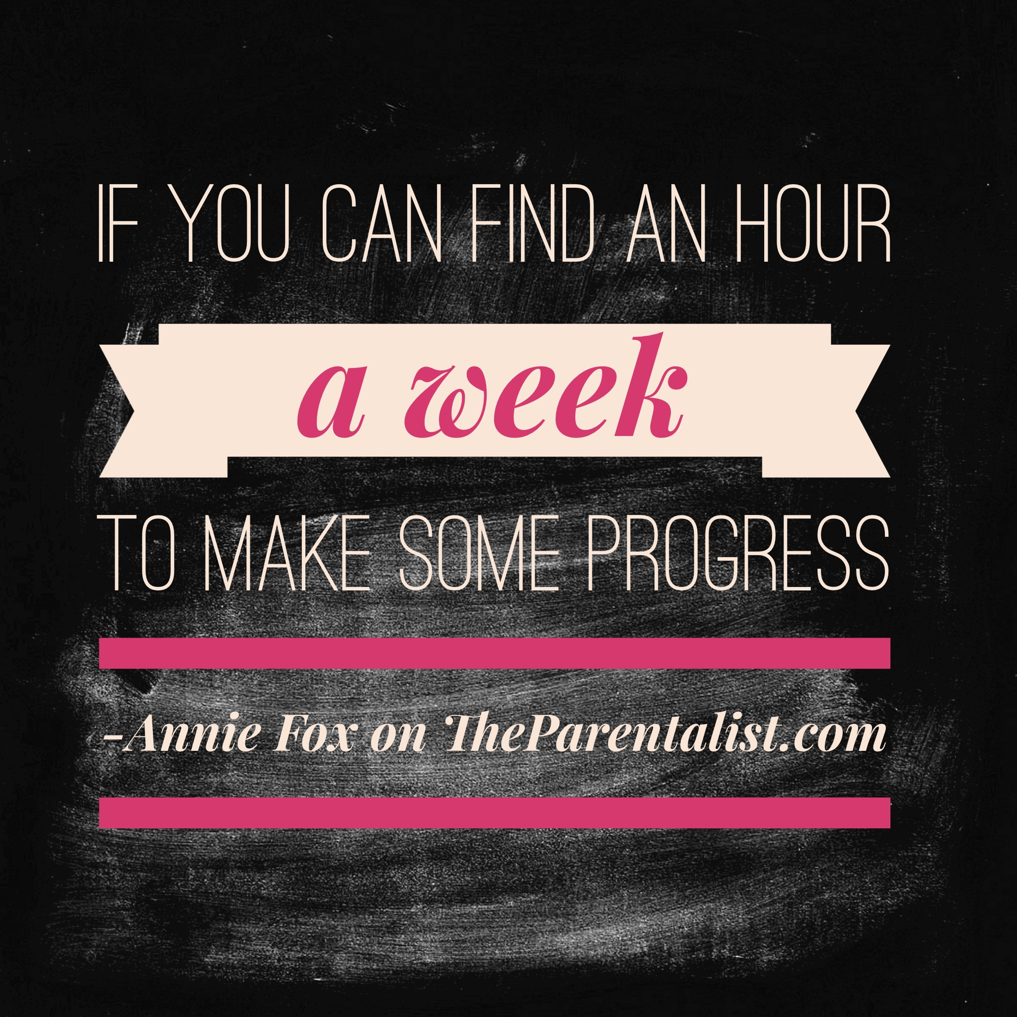 Productivity: Find An Hour a Week
